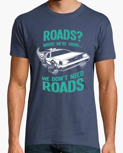 Camiseta Roads - Regreso al Futuro - Delorean