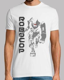 RoboCop camiseta blanca