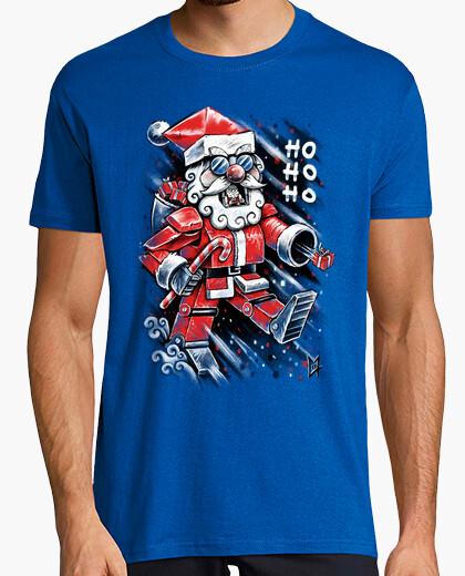 T-shirt robot babbo natale