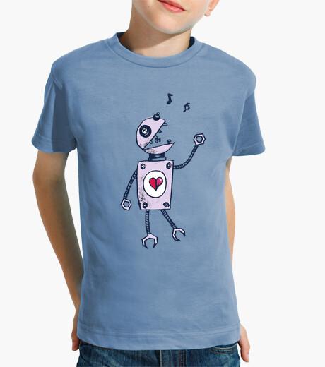 Ropa infantil robot cantando feliz
