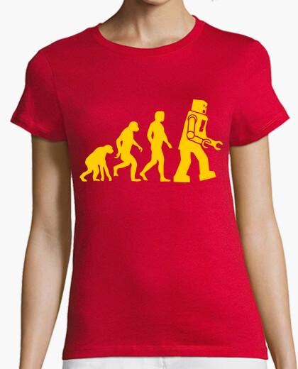T-shirt robot evoluzione big bang theory