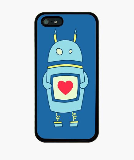 Coque iPhone robot maladroit mignon avec coeur