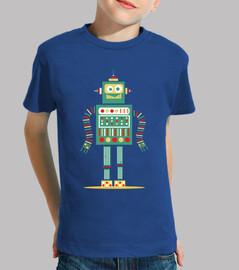 robot mignon coloré design vintage vête