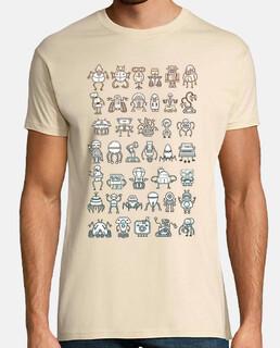 Robots camisetas friki