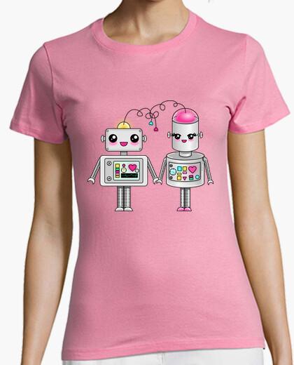 Camiseta Robots enamorados kawaii