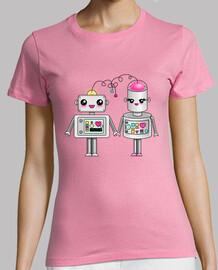 Robots enamorados kawaii