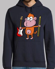 rock & roll monkey sweatshirt