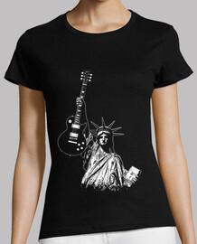 rock liberty dans le monde libre - gibson - statue - music-rock-blues-metal