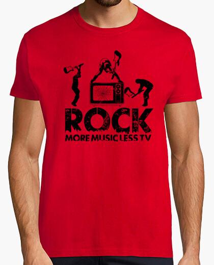T-shirt rock più musica meno tv