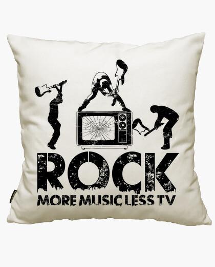 Housse de coussin rock plus moins tv