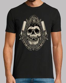 rock rockabilly skull vintage rock n roll rockers motards crânes t-shirt