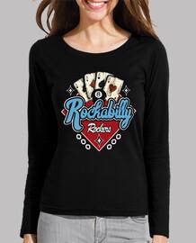 rockabilly music vintage rock and roll usa rockers retro biker girl t-shirt