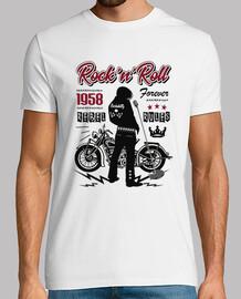 rockabilly retro 1958 t-shirt motos