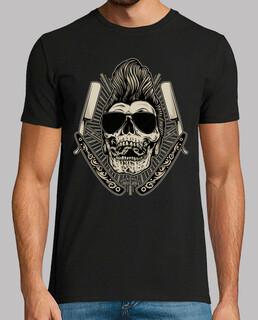rockabilly schädel retro rocker t-shirt