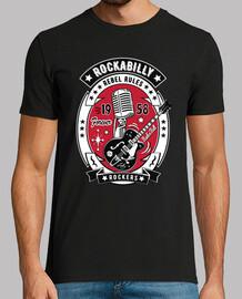 rockabilly vintage guitar rock and roll usa rock music 1958 t shirt