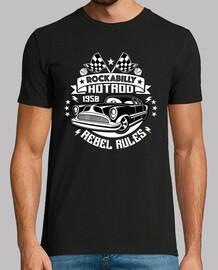 rockabilly vintage t shirt 1950s hotrod