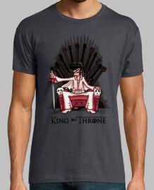 roi sur le trône