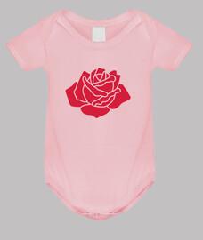 roja flor rosa