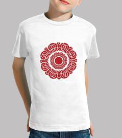 rojo embroma la camisa de loto