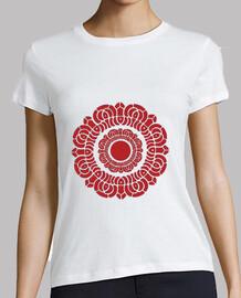 rojo señoras de loto camisa
