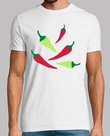 rojos chiles verdes