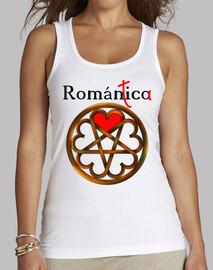 románico romantica Mujer, sin mangas, blanca