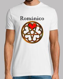 románico romántico Hombre, manga corta, blanco, calidad extra