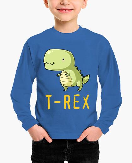Camiseta del T-Rex para niño, manga larga