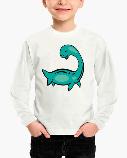 Ropa infantil Camiseta dinosaurio marino para niño, manga larga