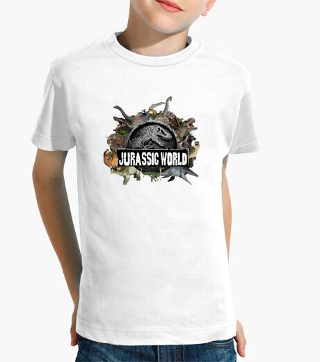 Ropa infantil camiseta Mundo Jurasico para niños