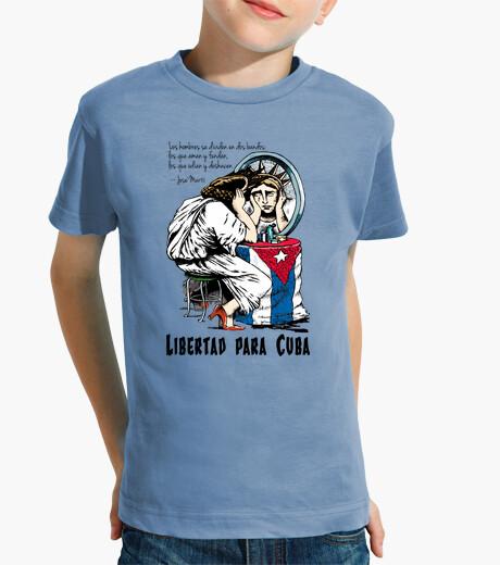 Ropa infantil Libertad para Cuba - Camiseta para niño de manga corta