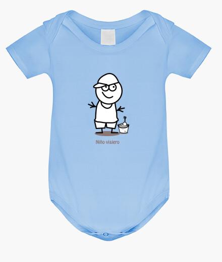 Ropa infantil Niño viajero-Body bebé, azul cielo