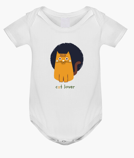 Ropa infantil orange cat lover