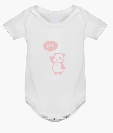 Ropa infantil Osito panda rosa saludando - bebé