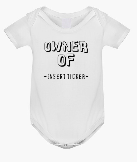 Ropa infantil Owner Of -TICKER-, con texto personalizable