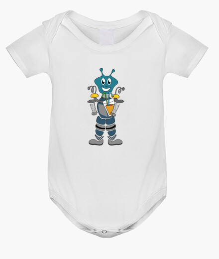 Ropa infantil robot abstracto