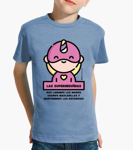Ropa infantil Superheroina rosa frase