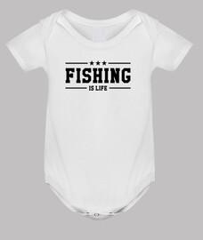 ropa para bebés de pesca - pescador - pescado