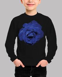 Rosa Azul Gotas de Agua