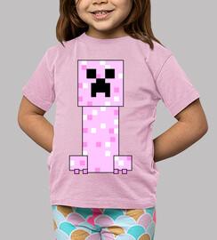 rosa minecraft creeper (ragazza)