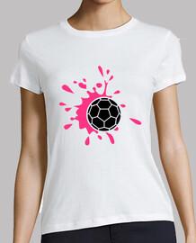 rosa salpicaduras de balonmano