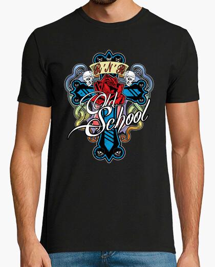 Camiseta Rosa y cruz Old School (H)