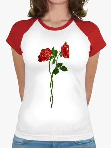 Camiseta rosas oscuras