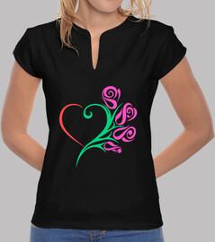 rose con cuore di colore