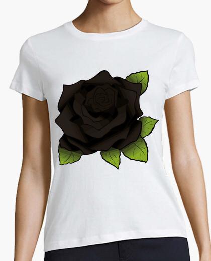 Tee-shirt rose noire / roses noires / rose