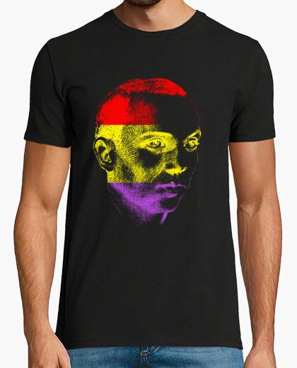 Camiseta Rostro Miguel Hernández colores republicanos