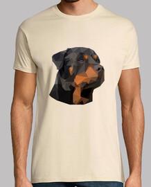Rottweiler Geométrico Hombre Manga Corta
