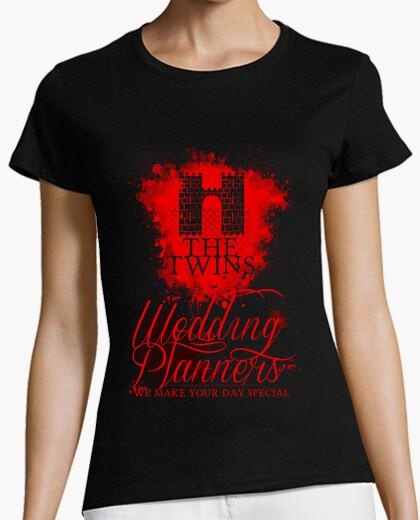 Tee-shirt (rouge) les planificateurs de mariage -  femme