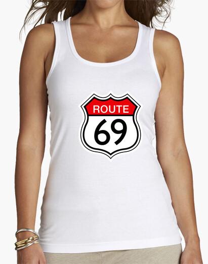 Camiseta route 69 blanca sin mangas