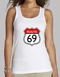 route 69 blanca sin mangas